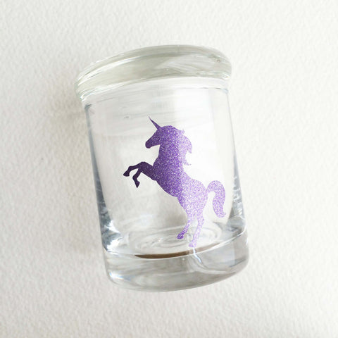 unicorn glitter girly cute classy weed jar stash jar stoner gift