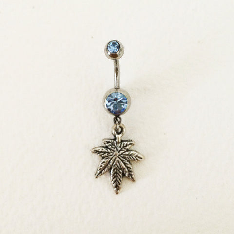 weed belly button ring body jewelry navel