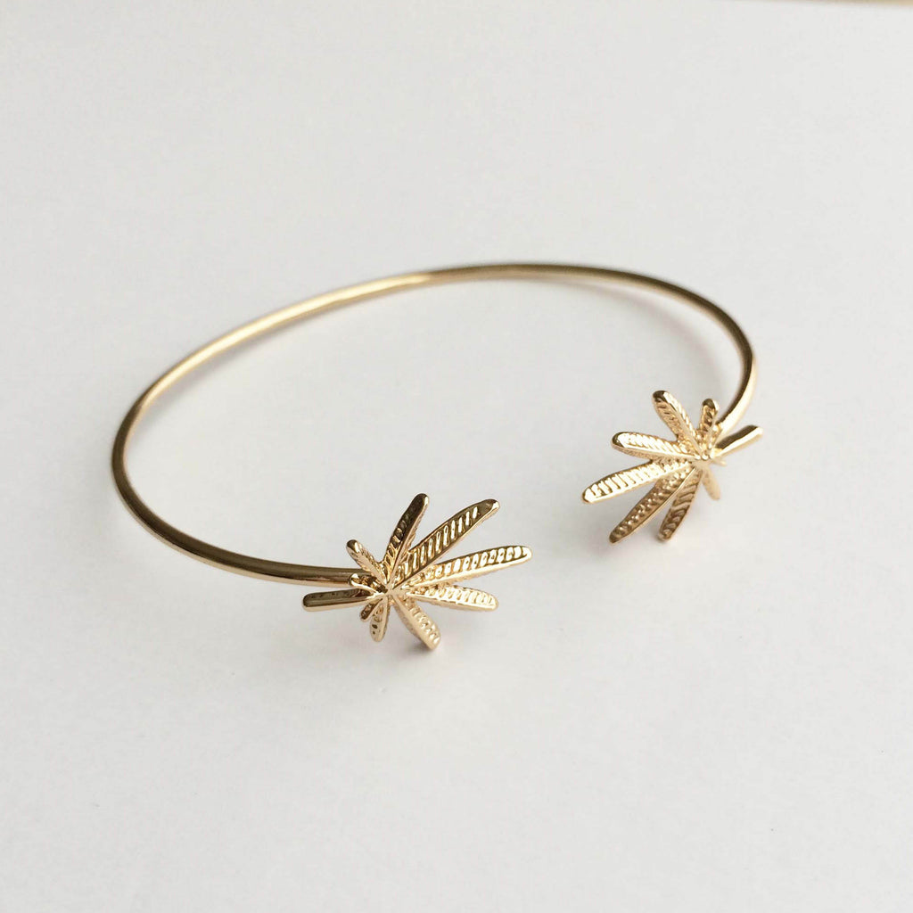 gold weed cannabis bracelet weed wedding