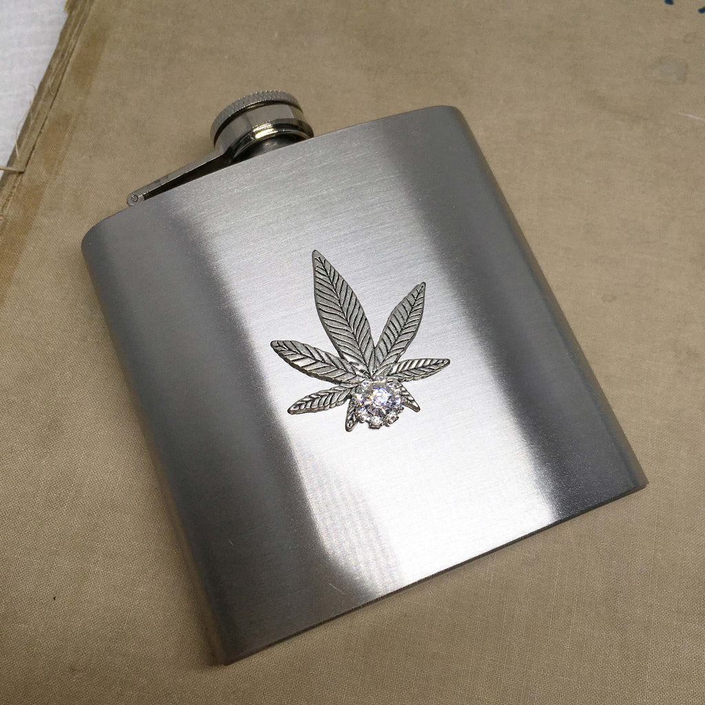 flask for men groom gift weed