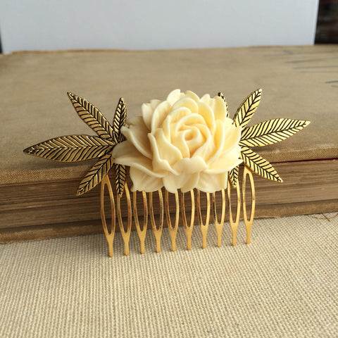 weed wedding comb gift hair accessories hair clip