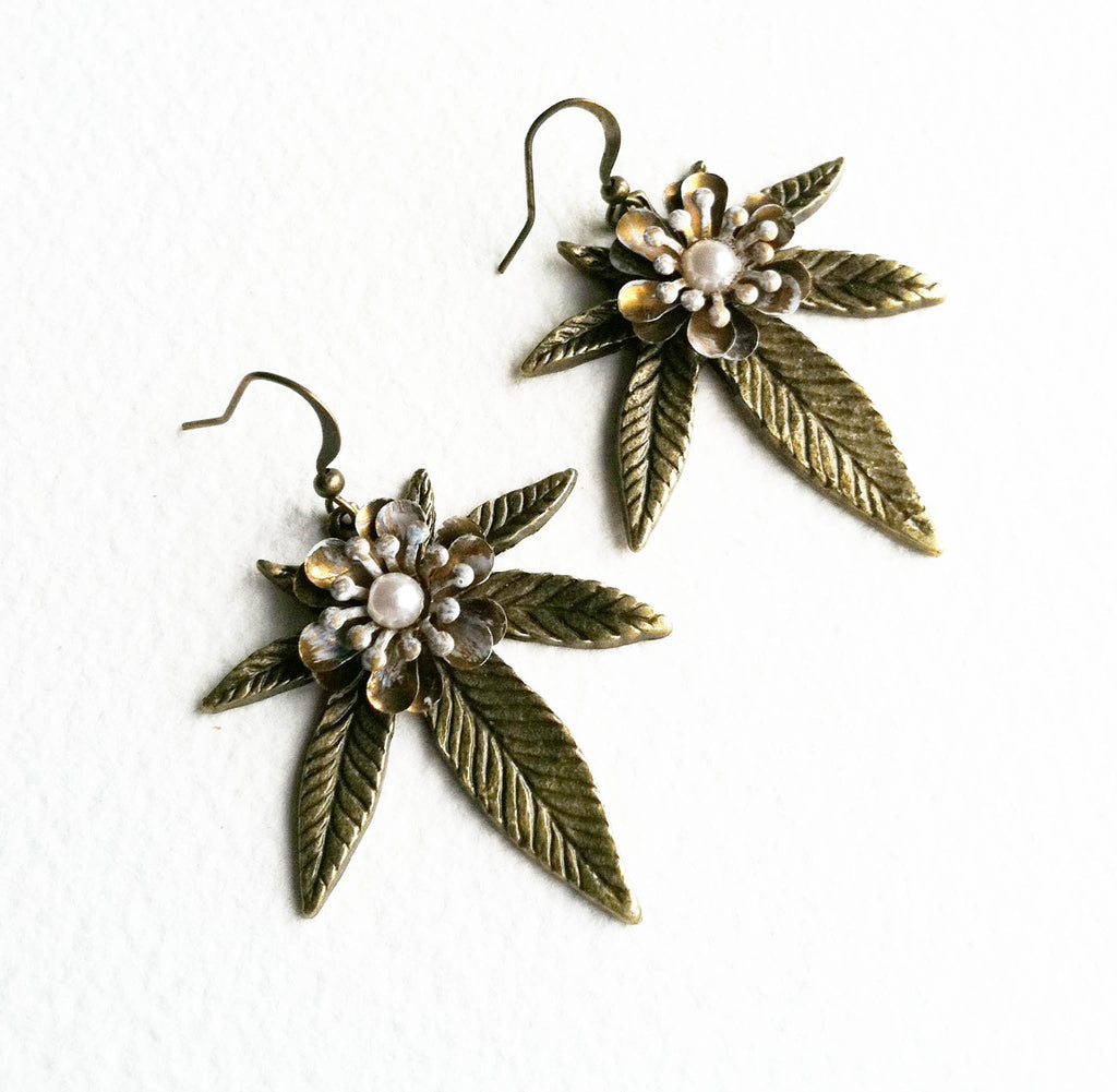 stoner gift cannabis jewelry marijuana earring girly