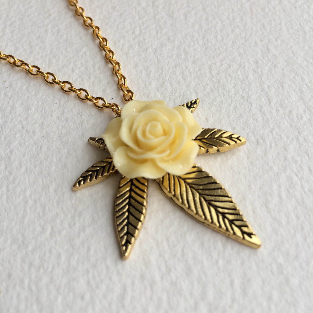 weed jewelry necklace gold womens