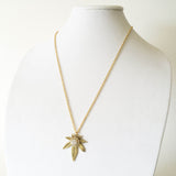 marijuana jewelry necklace