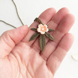 weed jewelry necklace marijuana gift