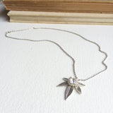 marijuana jewelry necklace silver