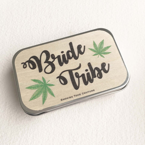 Wood Stash Tin - Bride Tribe