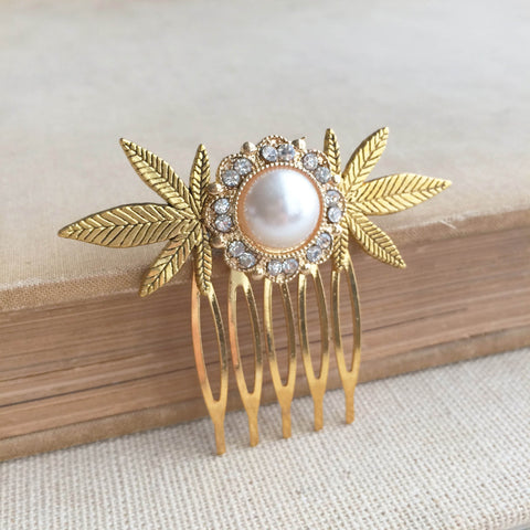 weed wedding comb hair accessories hair clip