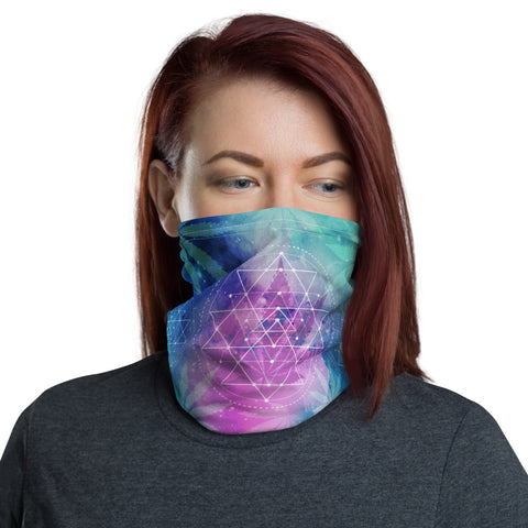 Weed Face Mask - Sacred Geometry Galaxy Rave Gaiter