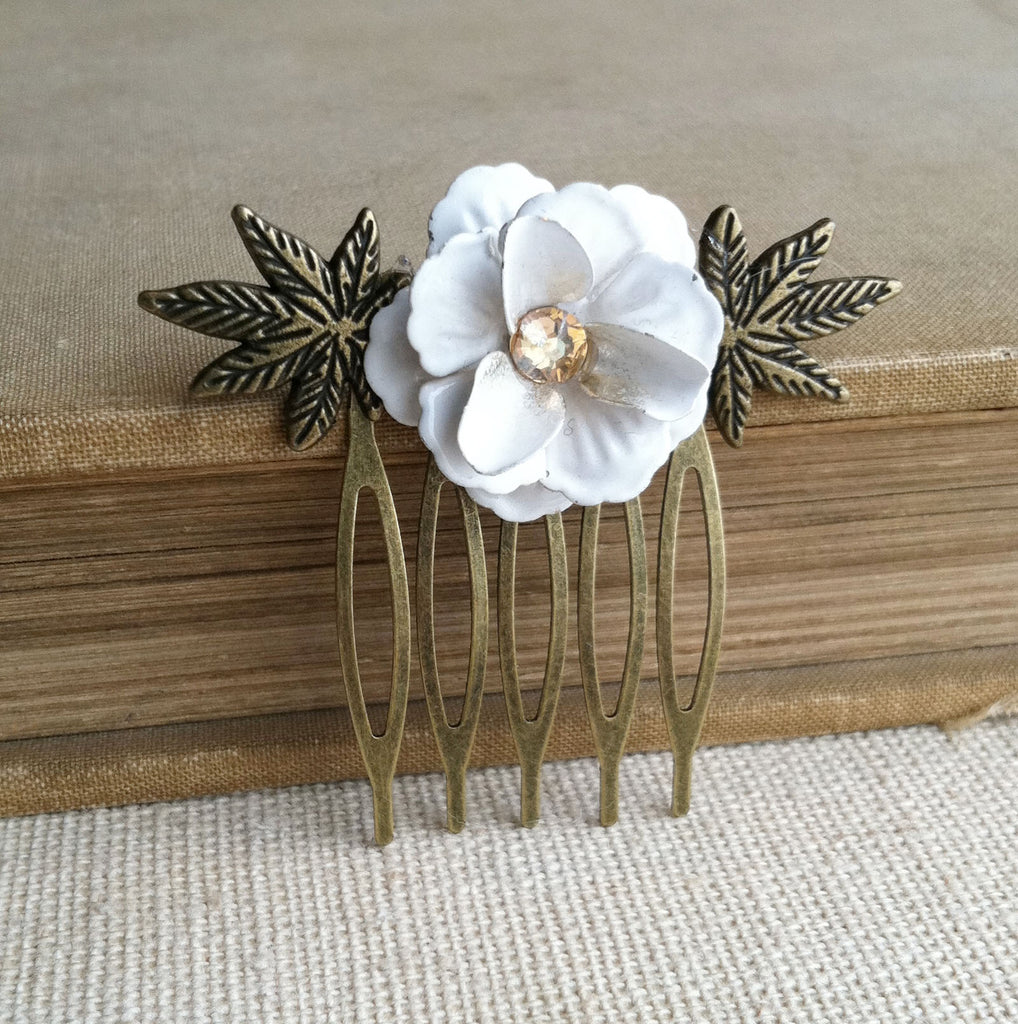 weed wedding hair accessory