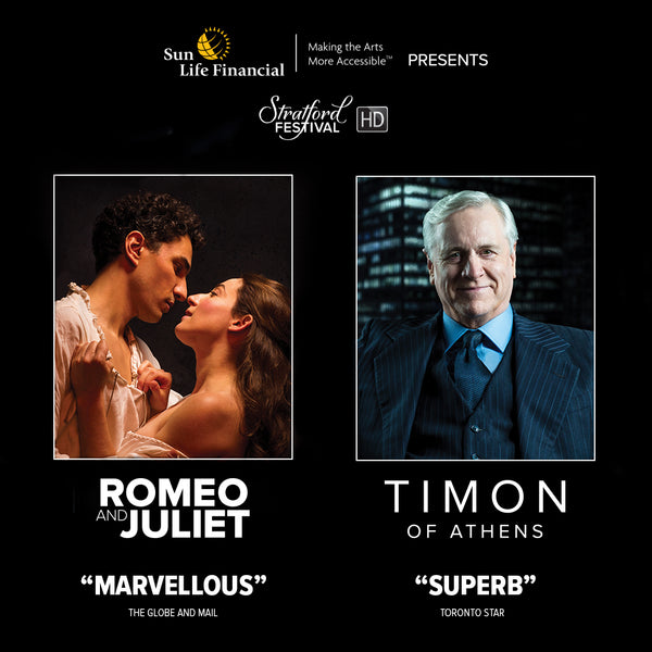 PRE-ORDER Stratford Festival HD 2018 Film Series - 2-Pack Set (Romeo and Juliet, Timon of Athens)