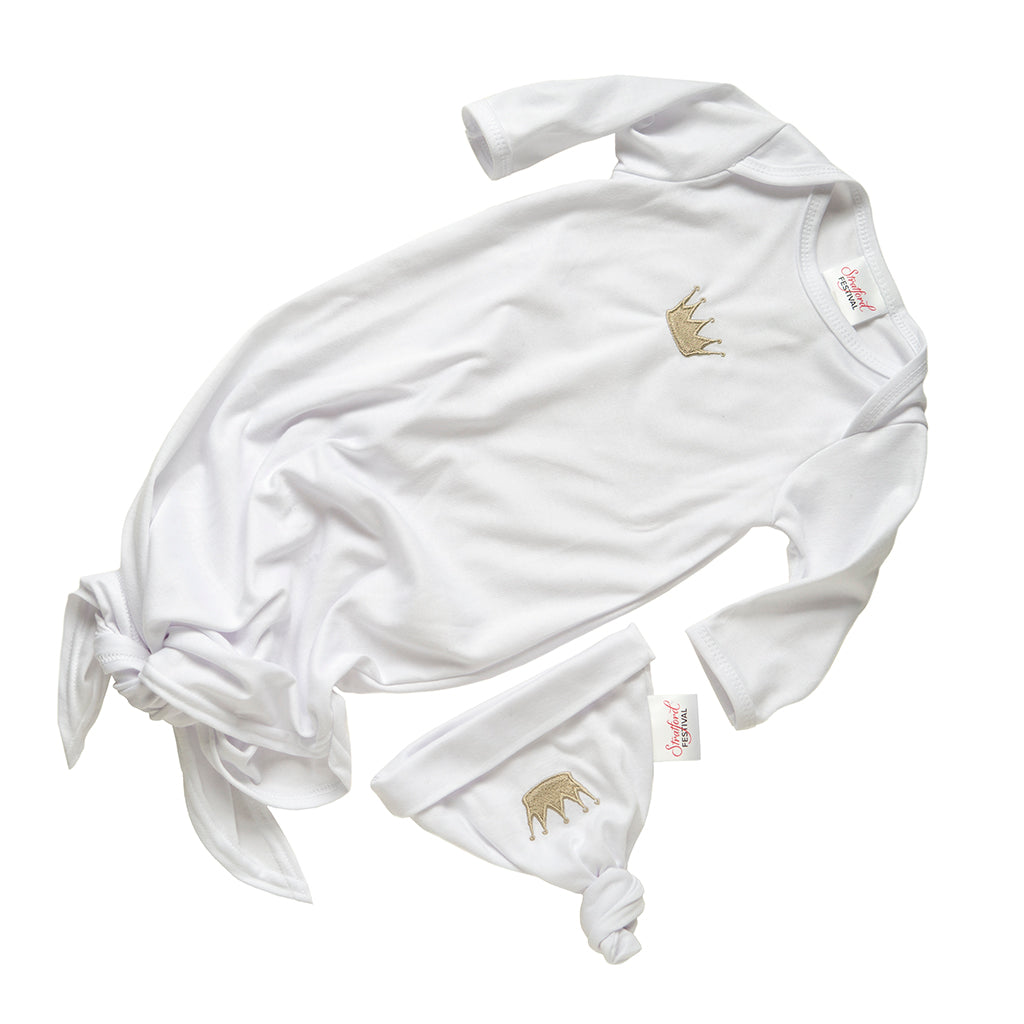 Sleeper Knotted Crown Outfit (3-6 Months)