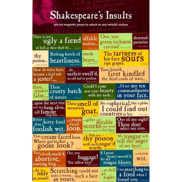 Shakespeare's Insults Quotation Magnets (Set)