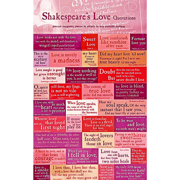 Shakespeare Love Quotations Magnet Set