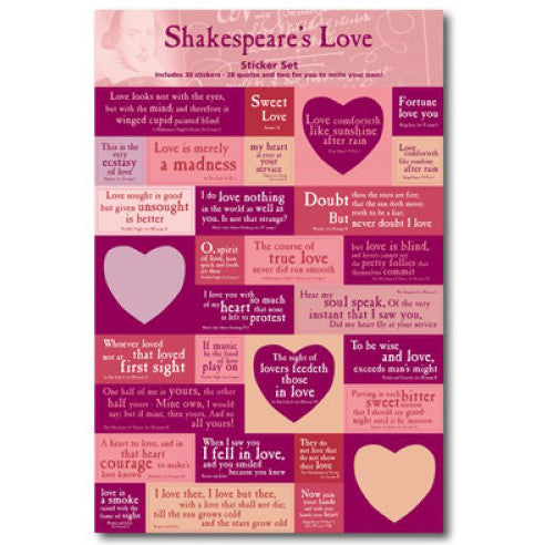Shakespeare's Love Quotations Stickers
