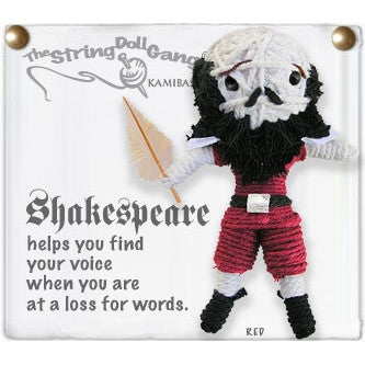 String Doll Shakespeare Keychain