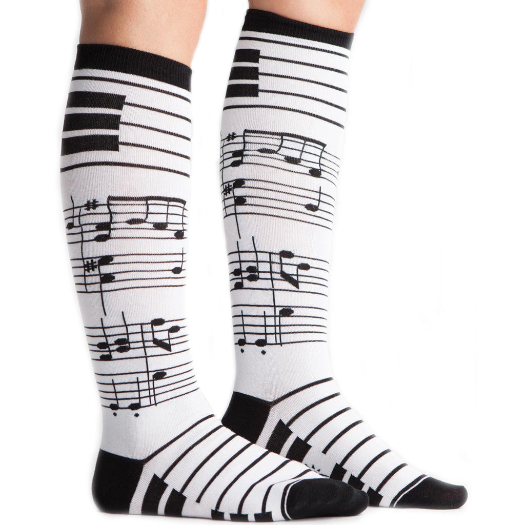 Knee High Foot Notes Socks