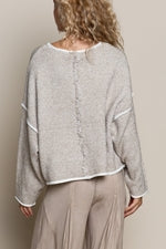 Heather Taupe Knit Sweater