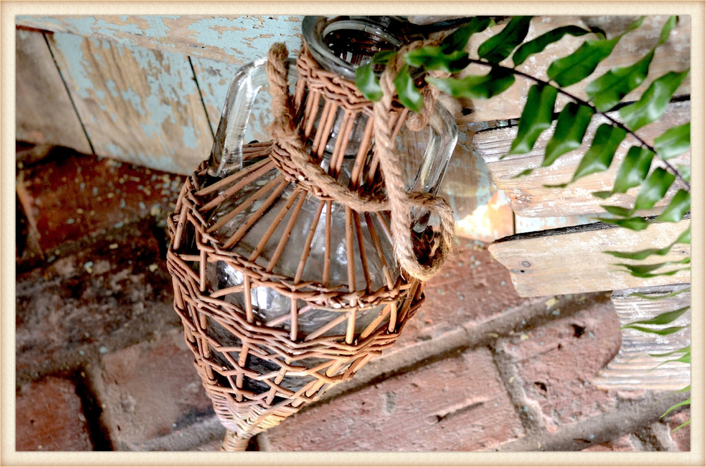 Large Wicker Wrapped Vessel