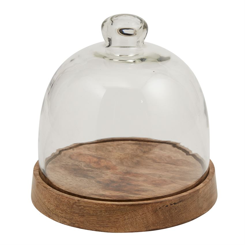 Wood & Glass Cloche Set