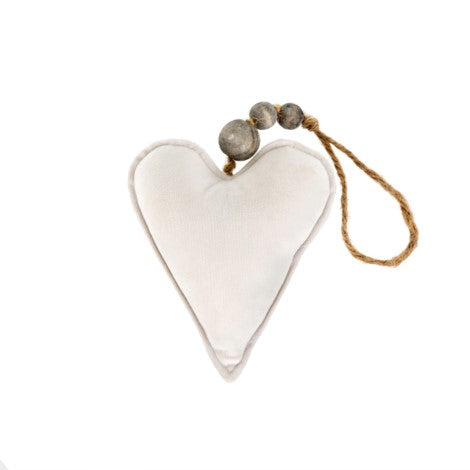 Small Velvet Heart Ornament