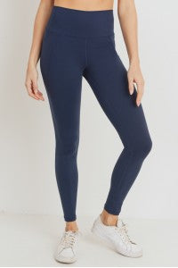 Dark Navy Tapered Band Leggings