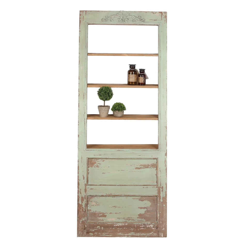 Charleston Leaning Door with Shelves