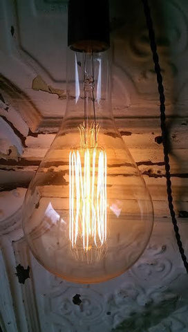 Large Industrial Teardrop Bulb