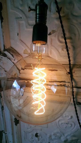 Large Round Industrial Bulb Spiral