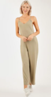 Spaghetti Strapped Grey Jumpsuit