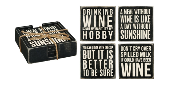 Coaster Set- Wine
