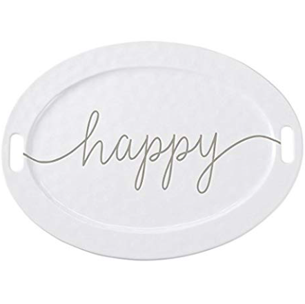 Large Happy Ceramic Serving Platter