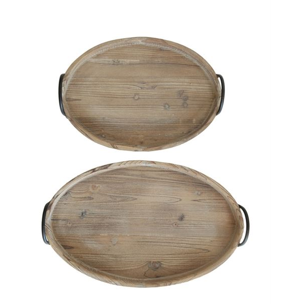 Wood Tray w/ Handles