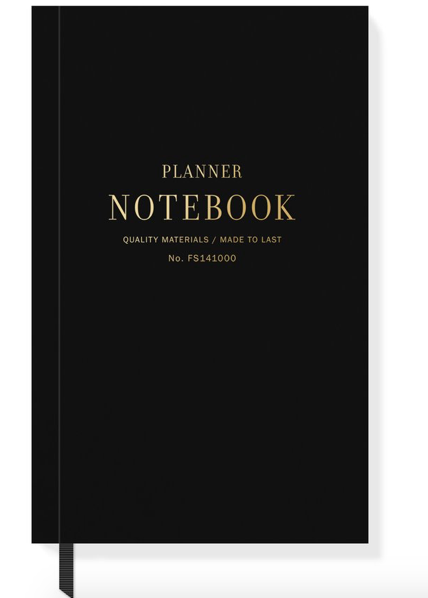 Black Planner Notebook