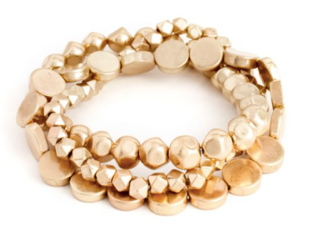 Gold Assorted Stack Bracelets