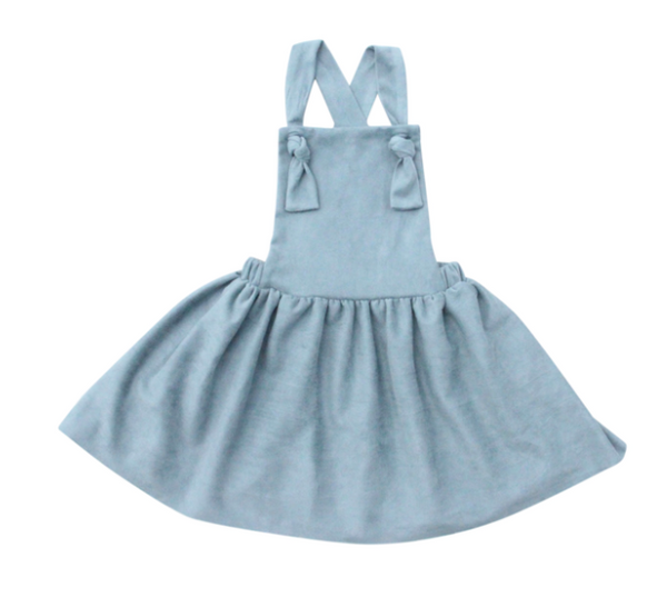 Slate Blue  Pinafore Dress