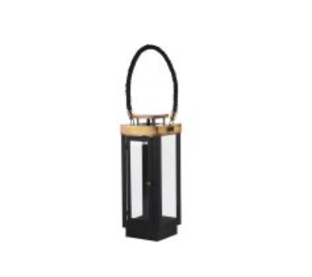 Black Lantern w/  Brass Trim