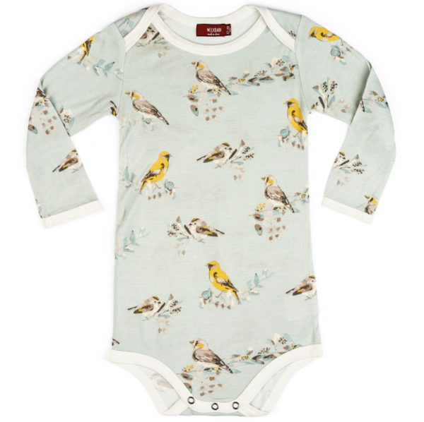 Bamboo Blue Bird Onesie