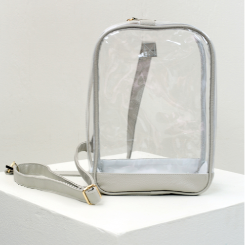 Gray Clear Sling Pack