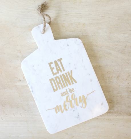 Be Merry Marble Serving Board