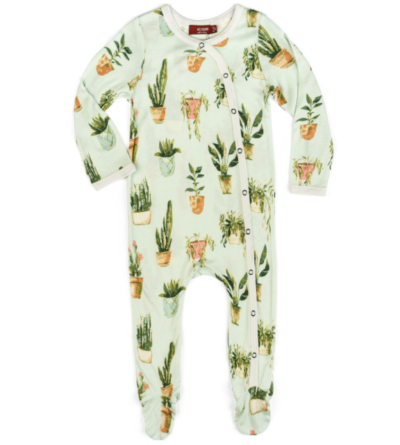 Footed Romper Plant