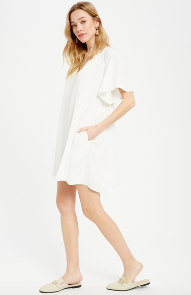 Flowy Sleeve Mini Dress