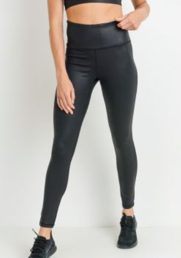 Black Foil Scale Leggings