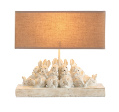 Table Lamp w/ Rabbits