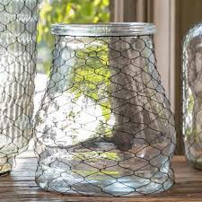 Collection Jar with Poultry Wire