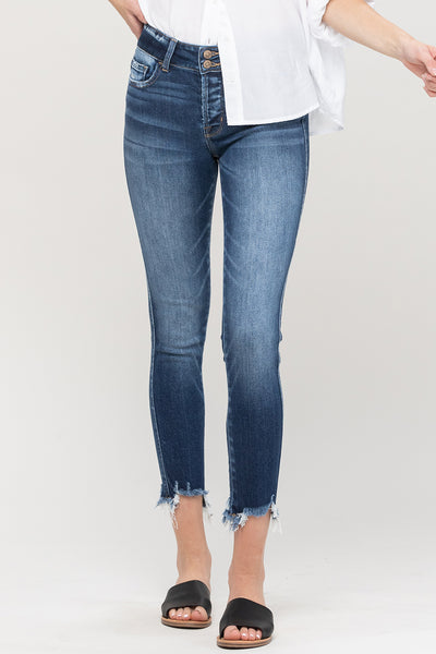 "Flying Monkey ""Lany"" Distressed Fray Jeans"