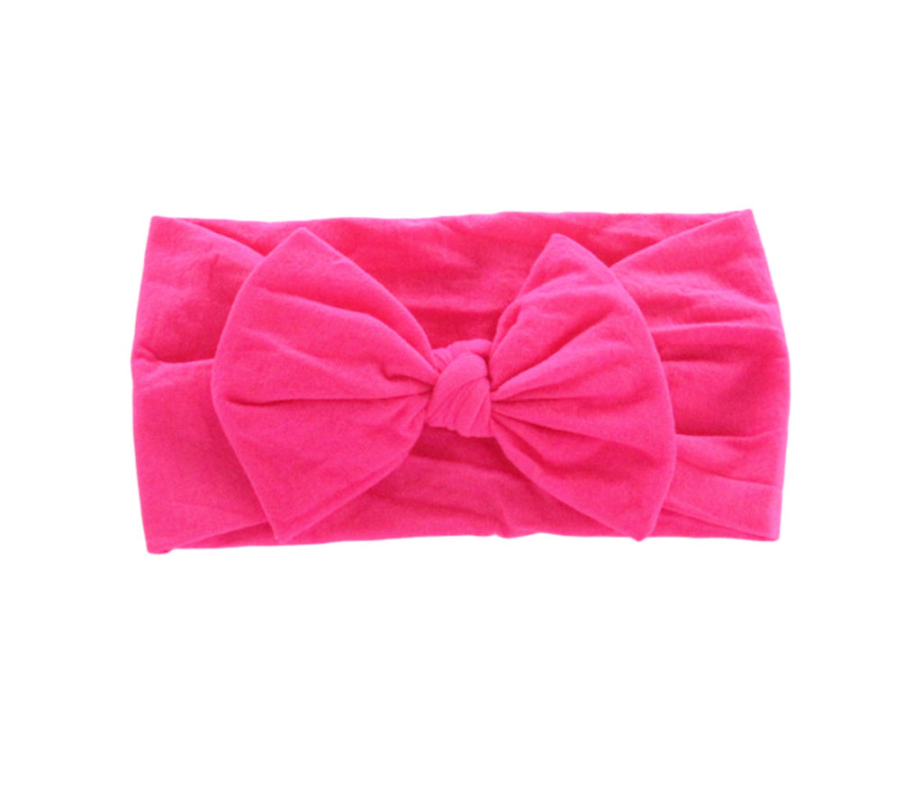 Hot Pink Solid Bow
