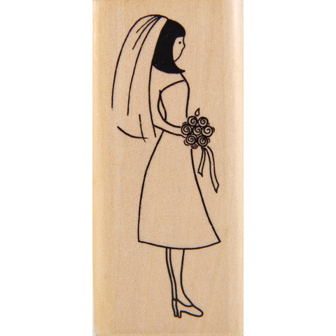 wood stamp - bride
