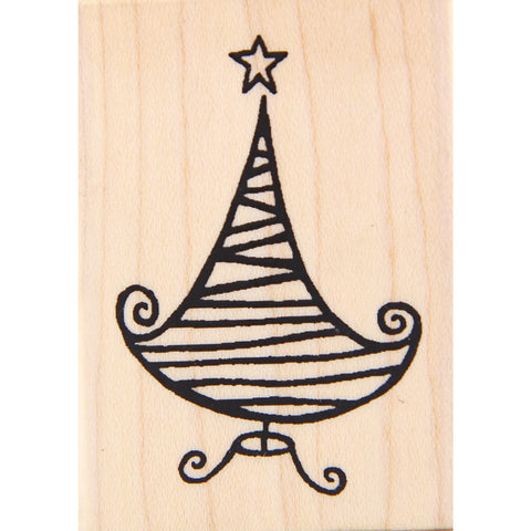 wood stamp - swanky tree