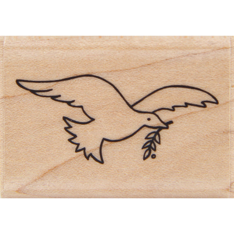 wood stamp - soaring dove